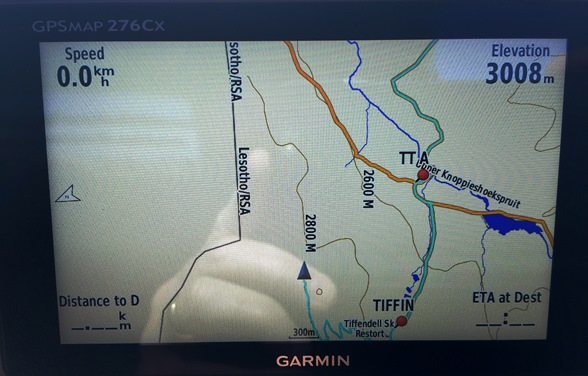 GPS showing 3008m