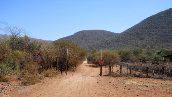 Entrance gate to the reserve