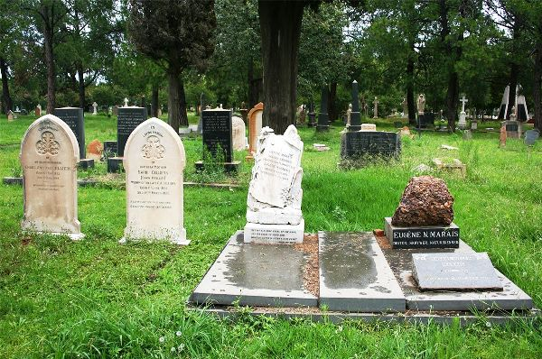 Grave sitee of Eugene Marais