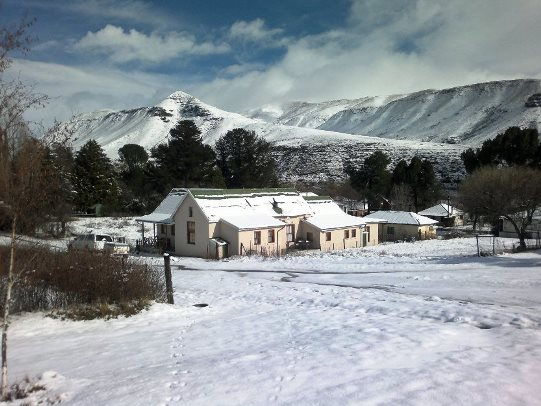 It snows in the village regularly