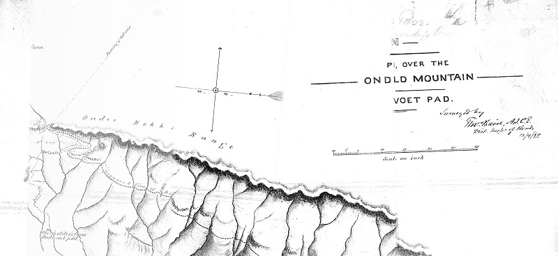 Thomas Bain map dating back to 1880