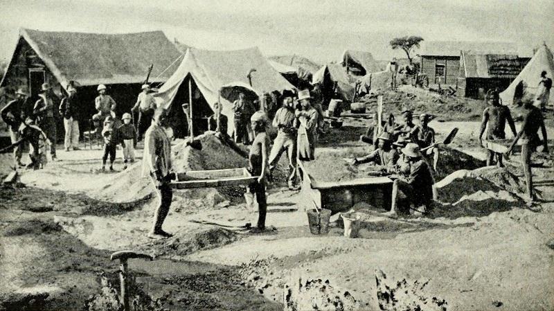 Early diamond diggings, Kimberley