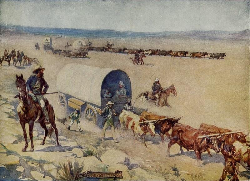 Voortrekkers (Painting by Red Skelton)