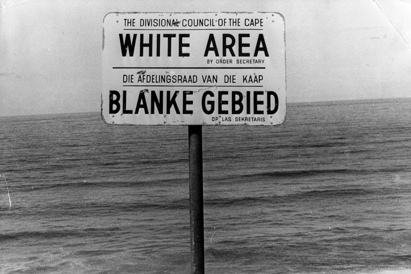 Apartheid era sign