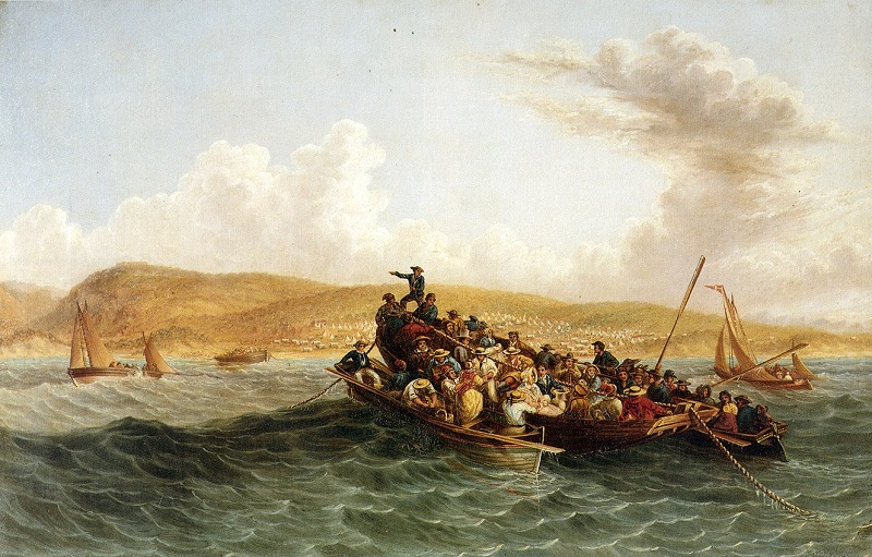 1820 Settlers arriving in Port Elizabeth (Painting by Thomas Baines)