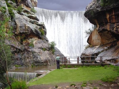 Lady Grey dam wall