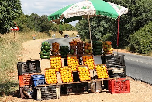 Fruit stall next to the road