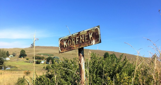 Old sign at Korfnek evidences lack of interest by local authorities