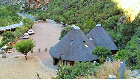 The main rest area and access point to the waterfall