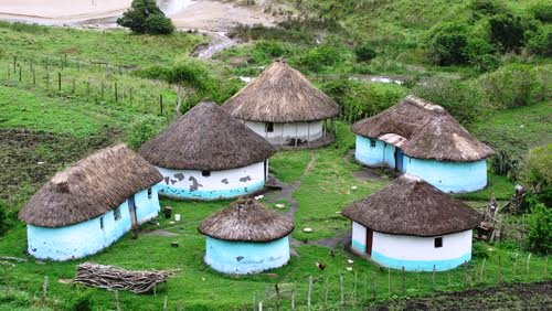 Traditional thatched homes