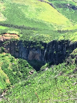 The waterfall on the southern side of the Otto du Plessis Pass