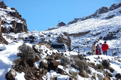 Snow on the Sani pass
