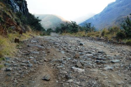Rough riding on the Sani pass