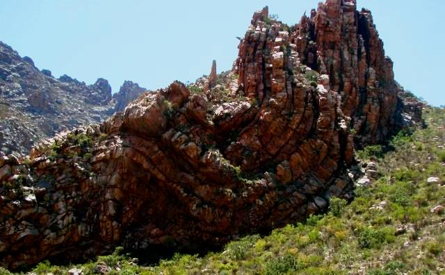 Twisted rock formations