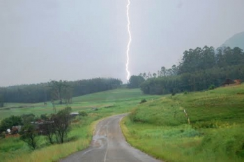 Lightning strike on the P437 approach road