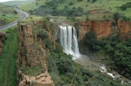 Elands Falls next to the pass
