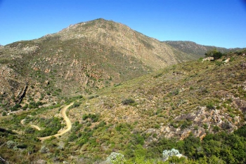 Greys Pass looking south-east from the new pass