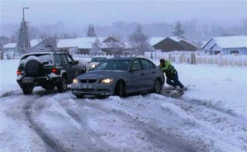 Snow in Volksrust causes lethal conditions on the roads