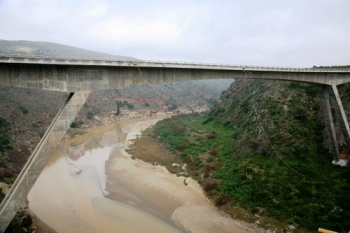 The new bridge spanning the Gouritz River gorge