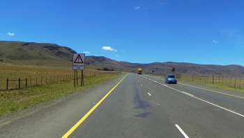 Southern start and the foot of the Penhoek Pass