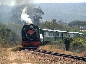 Hankey still operates trains using a narrow guage line