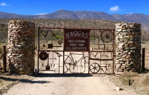 Hagas Guest farms stunning entrance gate