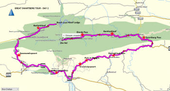 Route map - Day 2 / Great Swartberg Tour
