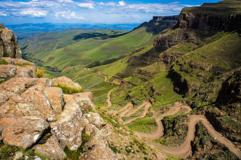 Sani Pass - One of many waterfalls