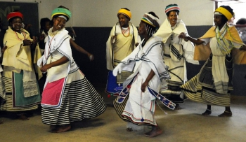 Traditional Xhosa dancers