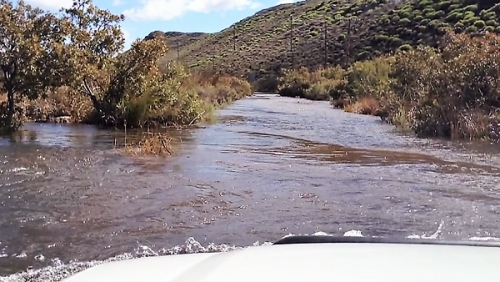 Deep water crossing at Matjiesrivier is dangerous