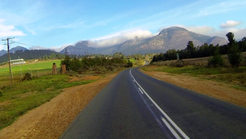 Orographic cloud over the Outeniqua mountains is a regular scenario