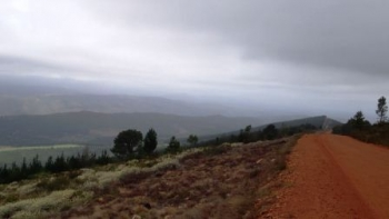 Paardekop Pass summit view