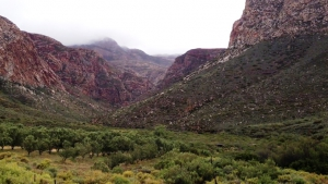 Swartberg mountains at the foot of the Kredouw Pass