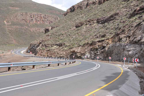 Lots of magnificent new roads in Lesotho