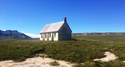 A small church on a hill waiting for worshippers, near Bastervoetpad, Eastern Cape