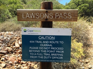 The start of Lawson's Pass