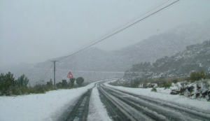 The Witzenberg Pass under snow