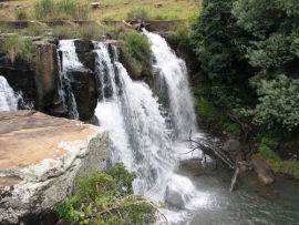 The Bivane river is peppered with waterfalls and rapids