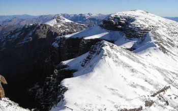 Matroosberg is usually the first mountain range to receive snow.