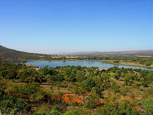 View of the Buffelspoort Dam