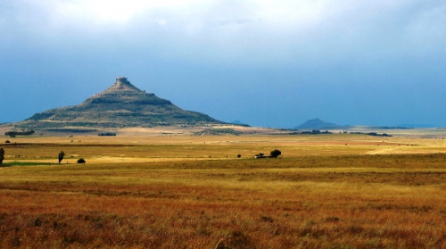 Perfect Free State scenery along the pass