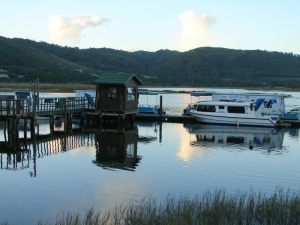 Lightleys houseboats are located at the bottom of the pass